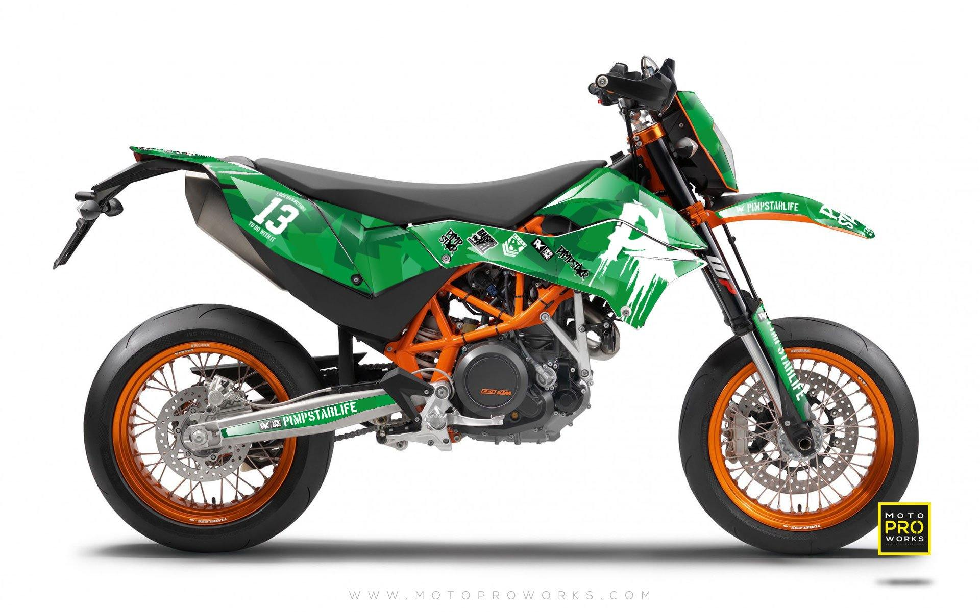 "KTM GRAPHIC KIT - ""M90"" (green) - MotoProWorks 