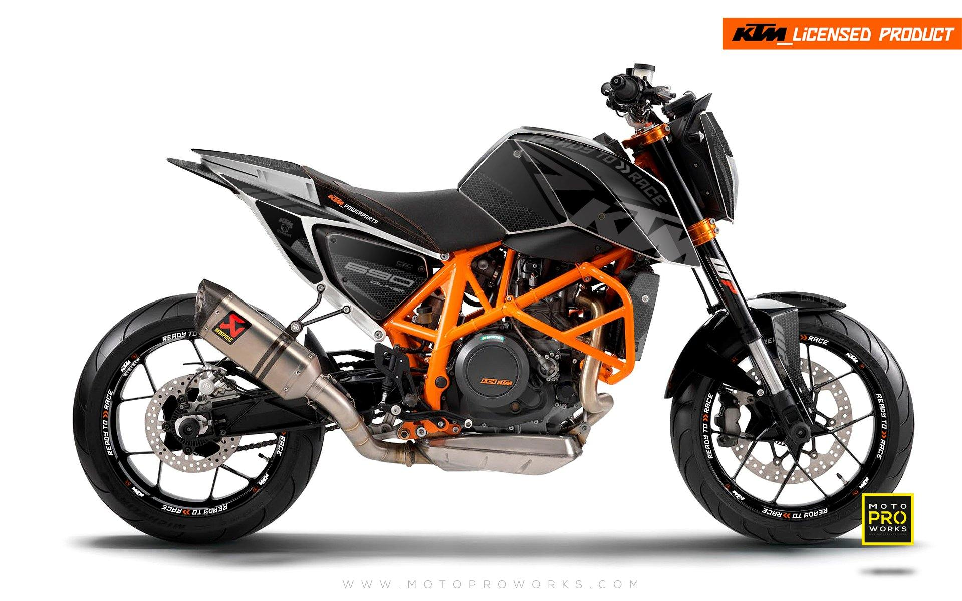 "KTM 690 Duke GRAPHIC KIT - ""RR-Tech"" (Black)"