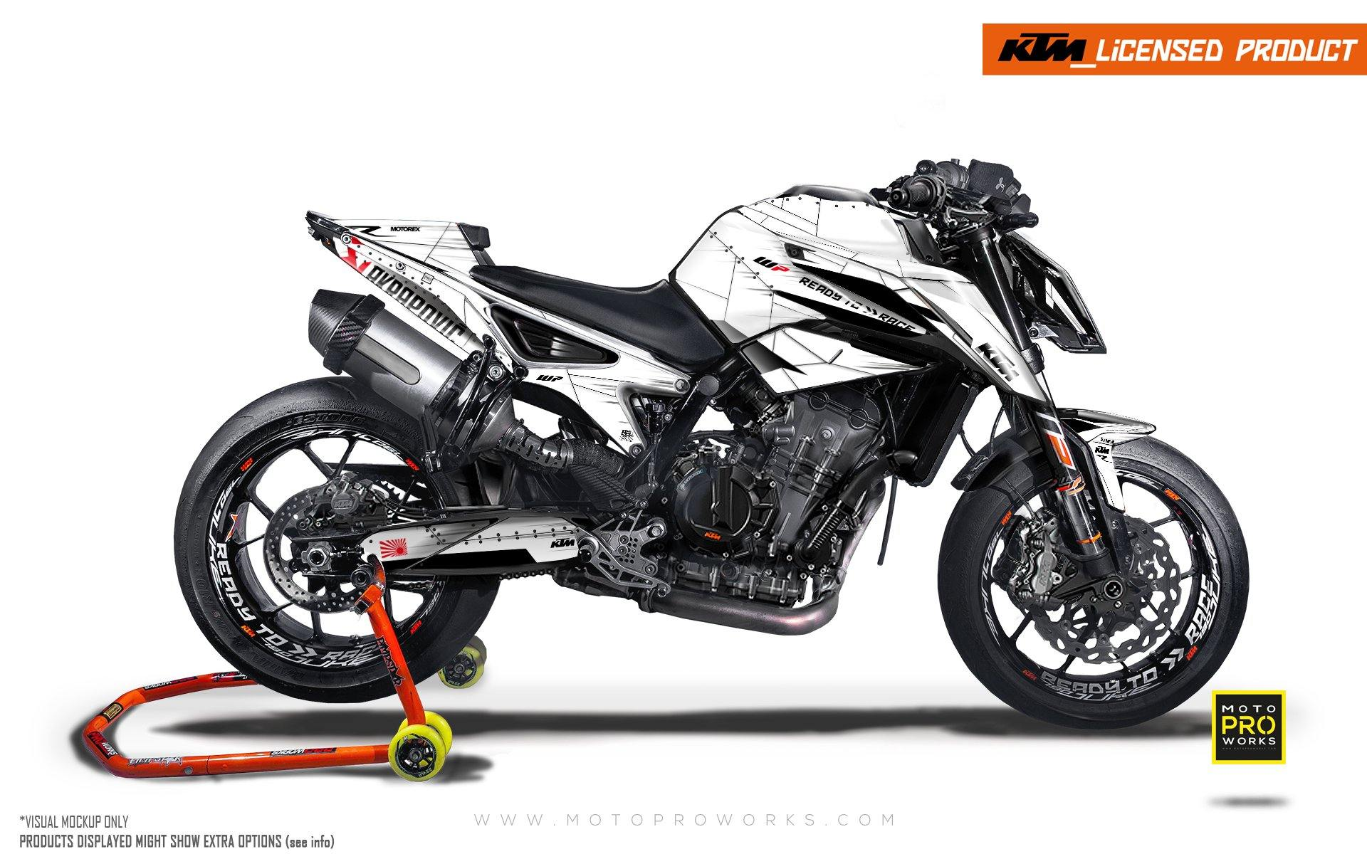 "KTM 790/890 R Duke GRAPHIC KIT - ""Liberty"" (Snow)"