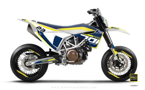 "Husqvarna 701 GRAPHIC KIT - ""SEVENOH"" (Blue/White)"