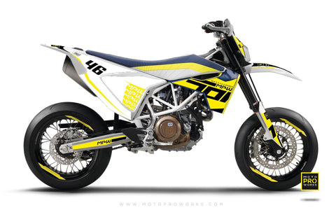 "Husqvarna 701 GRAPHIC KIT - ""SEVENOH"" (yellow)"