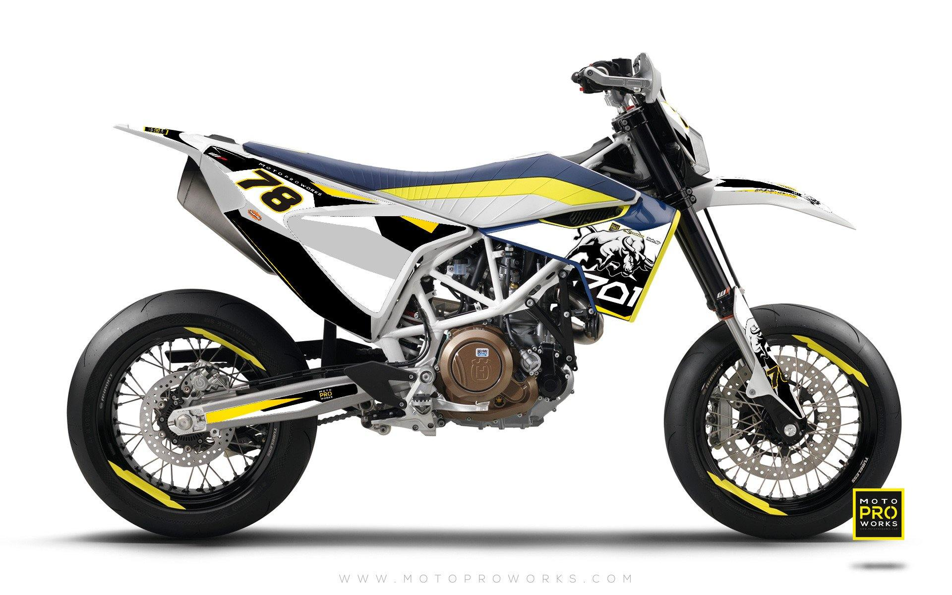 "Husqvarna 701 GRAPHIC KIT - ""TORO"" (black/white) - MotoProWorks 