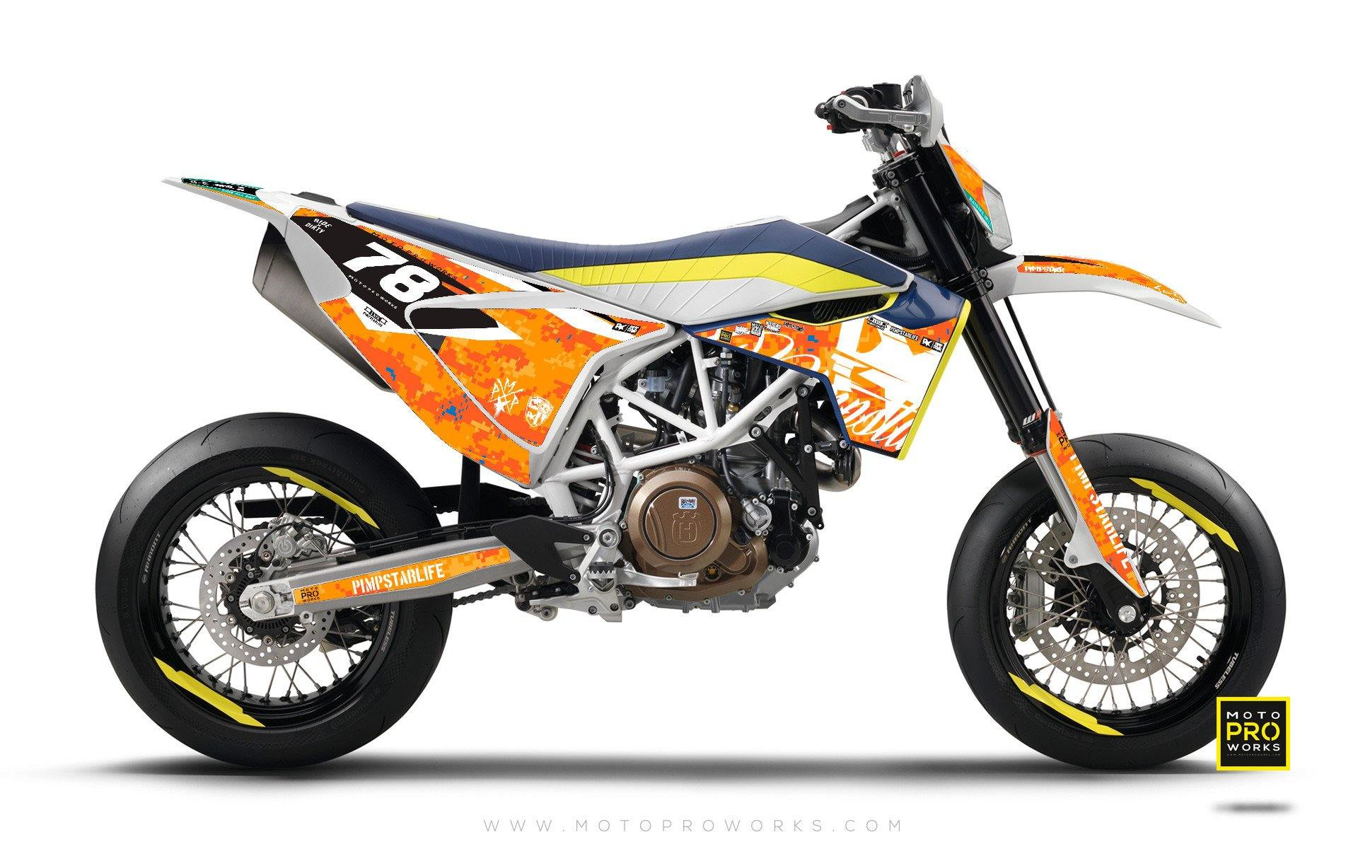 "Husqvarna 701 GRAPHIC KIT - ""MARPAT"" (orange) - MotoProWorks 