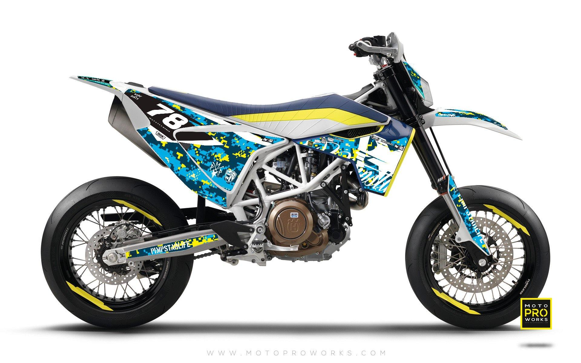 Husqvarna 701 Graphic Kit Marpat Special Motoproworks Decals And Bike Graphic Kit