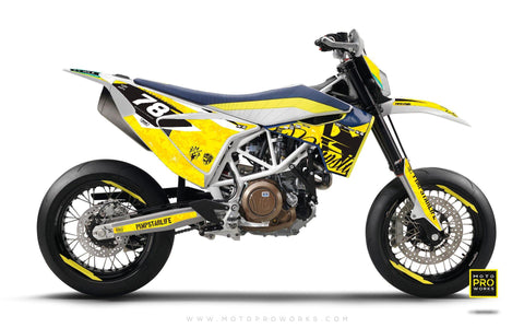 "Husqvarna 701 GRAPHIC KIT - ""MARPAT"" (yellow)"