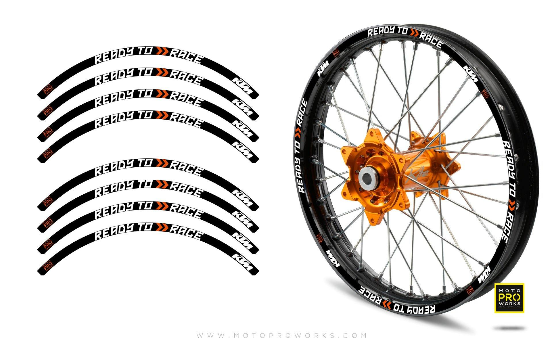"Rim Stripes - KTM ""Ready To Race"" (Black)"