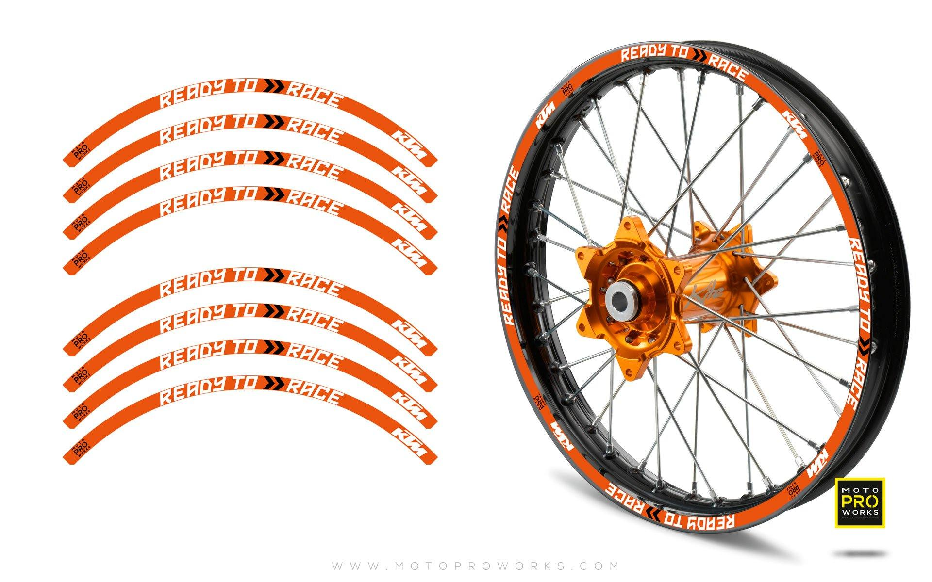 "Rim Stripes - KTM ""Ready To Race"" (Orange)"