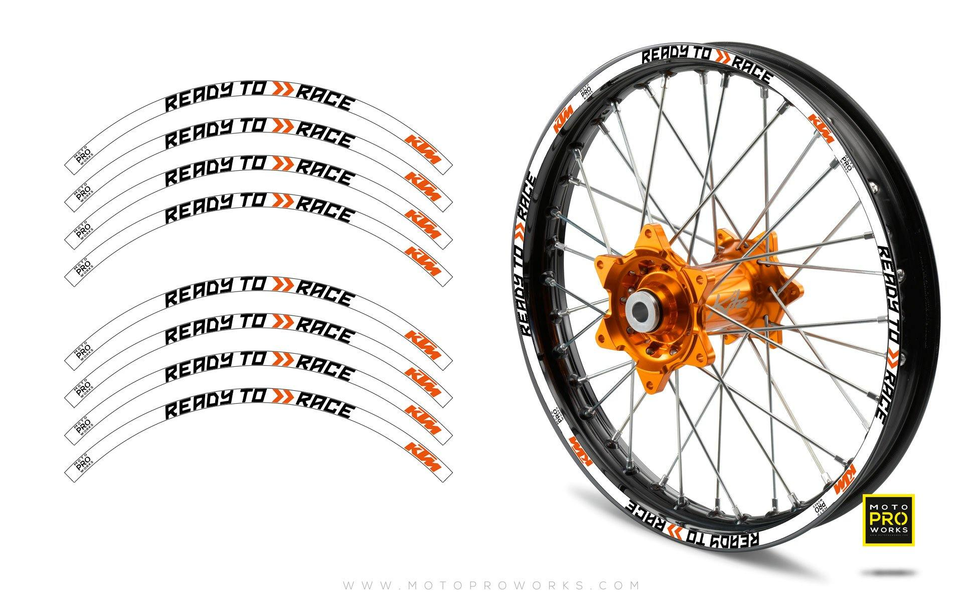 "Rim Stripes - KTM ""Ready To Race"" (White)"