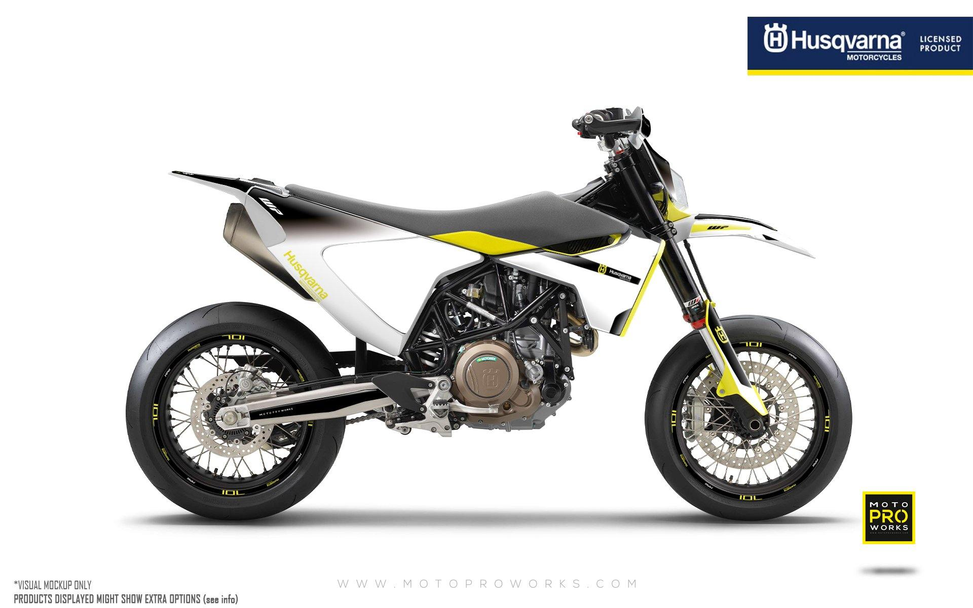 "Husqvarna 701 GRAPHIC KIT - ""Radius"" (Black/White)"