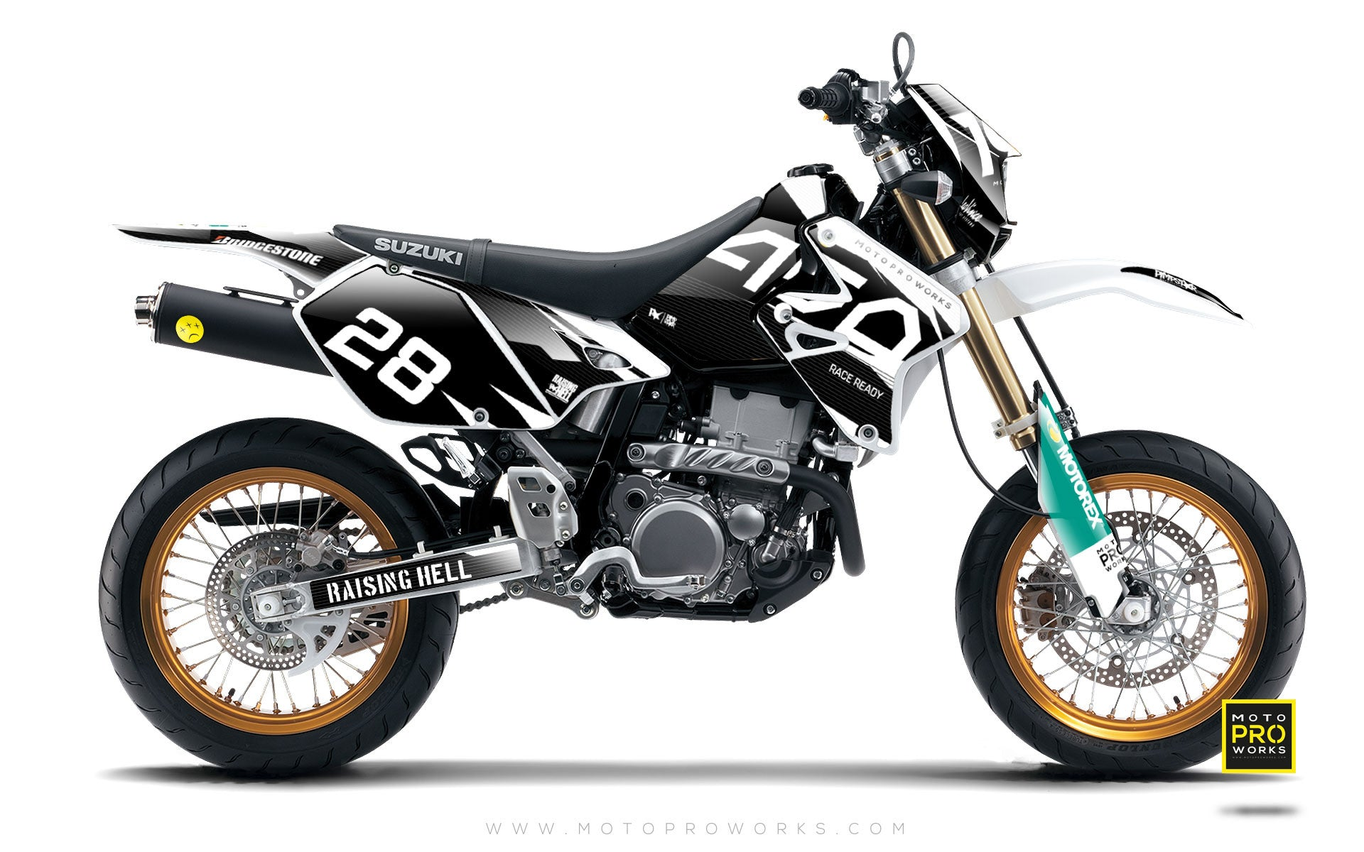 "Suzuki GRAPHIC KIT - ""BACMONO"" - MotoProWorks 