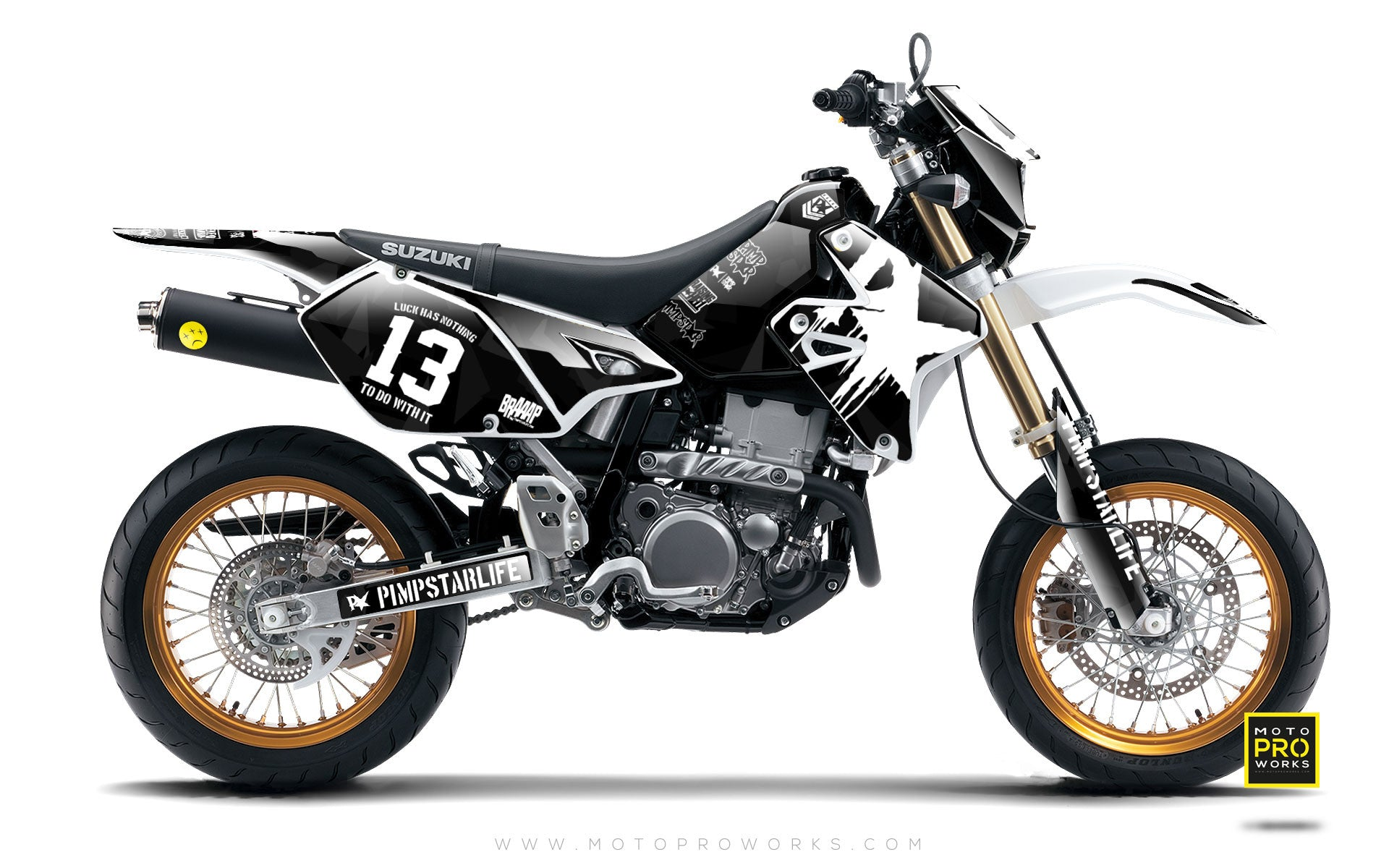 "Suzuki GRAPHIC KIT - ""M90"" (black) - MotoProWorks 