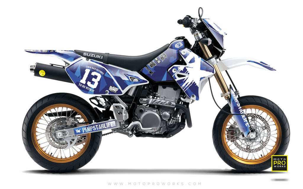 "Suzuki GRAPHIC KIT - ""M90"" (blue) - MotoProWorks 