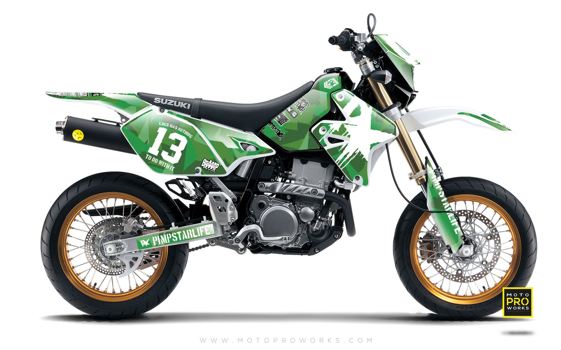 "Suzuki GRAPHIC KIT - ""M90"" (green) - MotoProWorks 