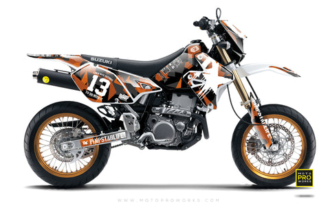 "Suzuki GRAPHIC KIT - ""M90"" (orange) - MotoProWorks 