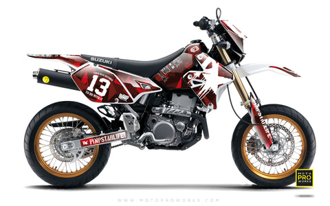 "Suzuki GRAPHIC KIT - ""M90"" (ruby) - MotoProWorks 