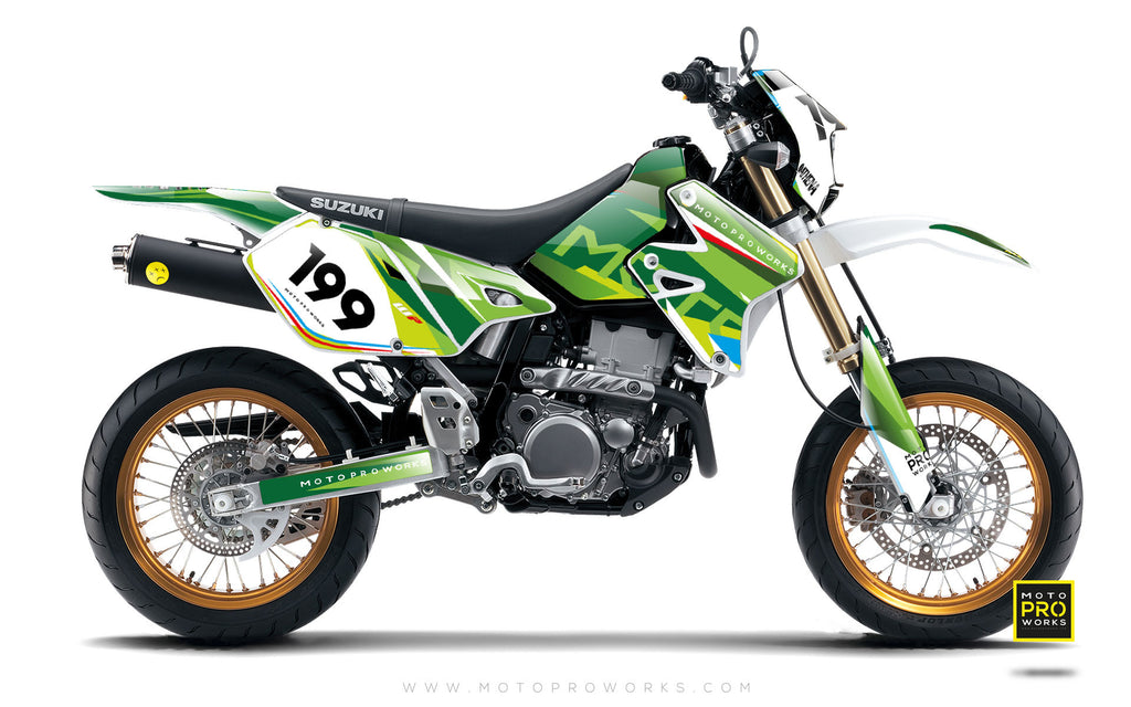 "Suzuki GRAPHIC KIT - ""TECH9"" (nature) - MotoProWorks 