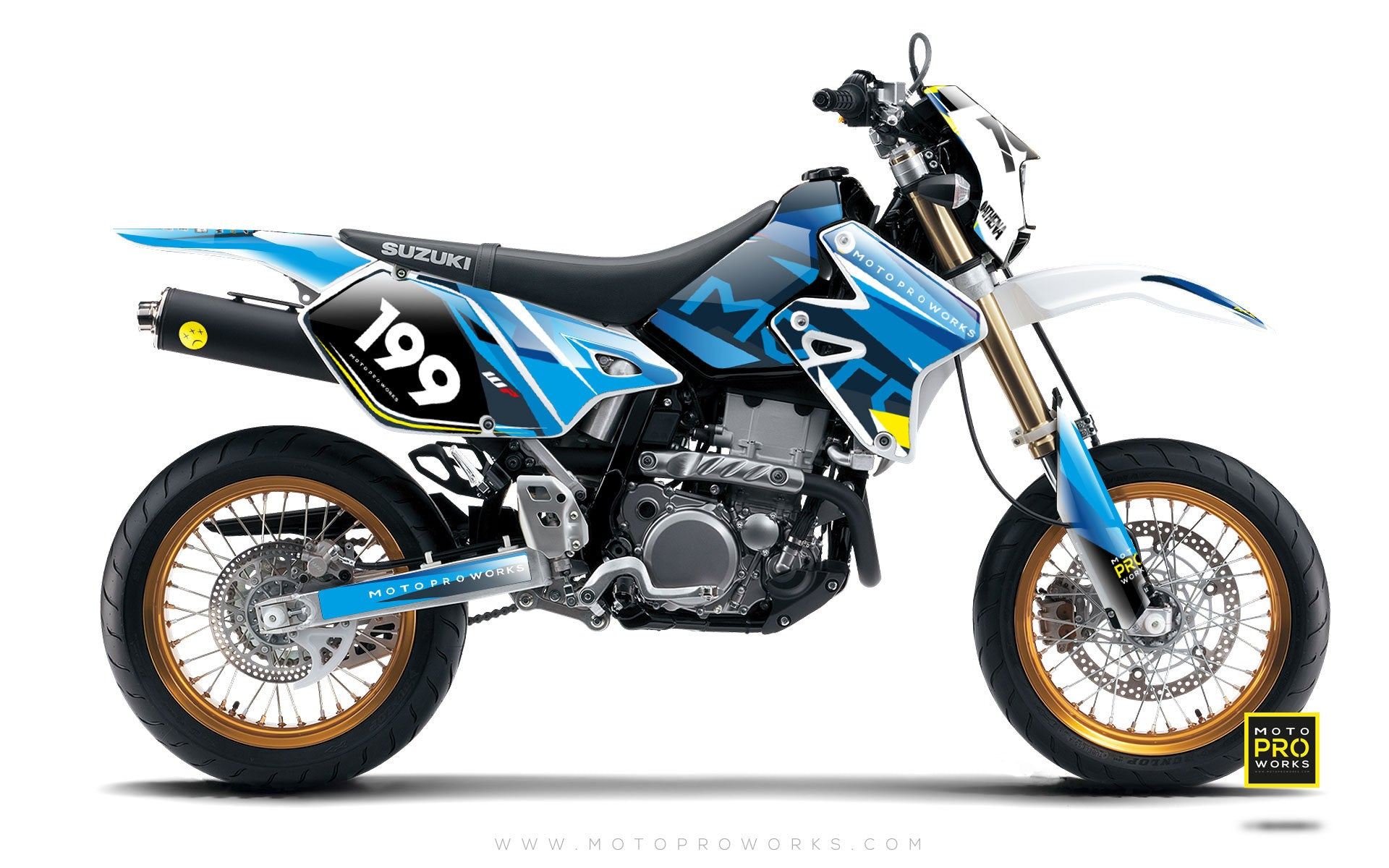 "Suzuki GRAPHIC KIT - ""TECH9"" (pacific) - MotoProWorks 