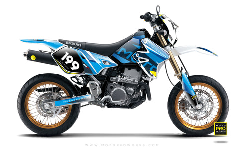 "Suzuki GRAPHIC KIT - ""TECH9"" (pacific)"