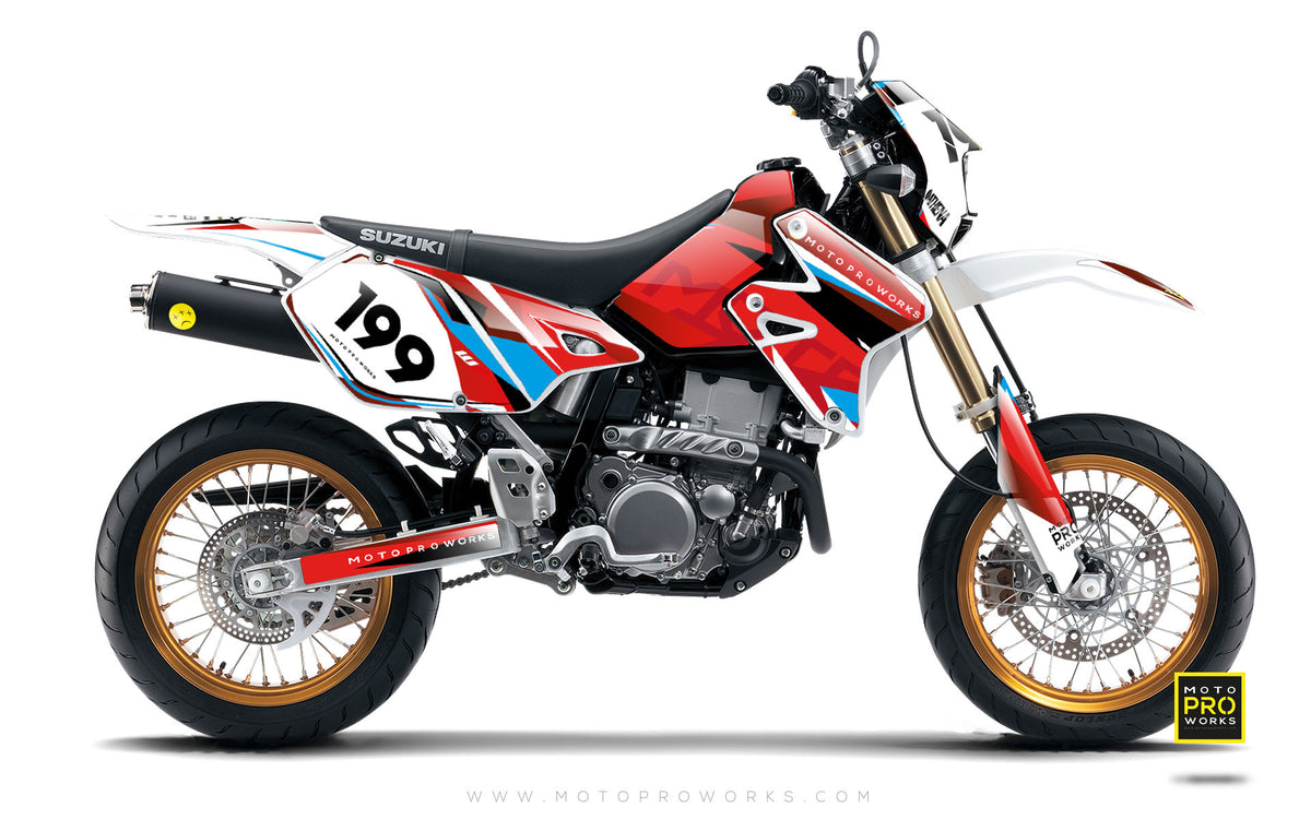 "Suzuki GRAPHIC KIT - ""TECH9"" (polka) - MotoProWorks 