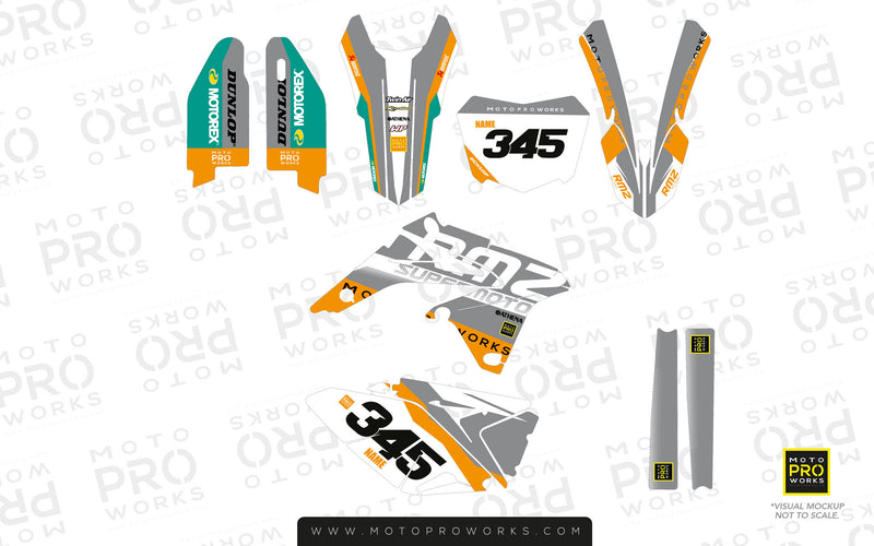 "Suzuki GRAPHIC KIT - ""GOFAST"" (minty) - MotoProWorks 