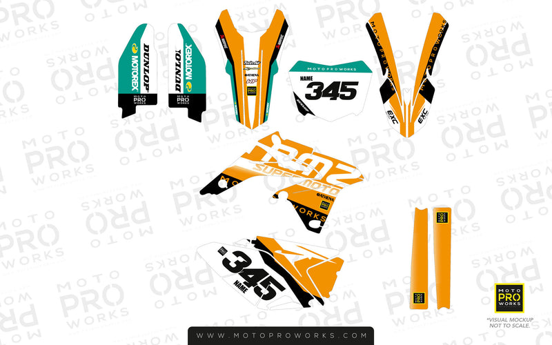 "Suzuki GRAPHIC KIT - ""GOFAST"" (orange) - MotoProWorks 