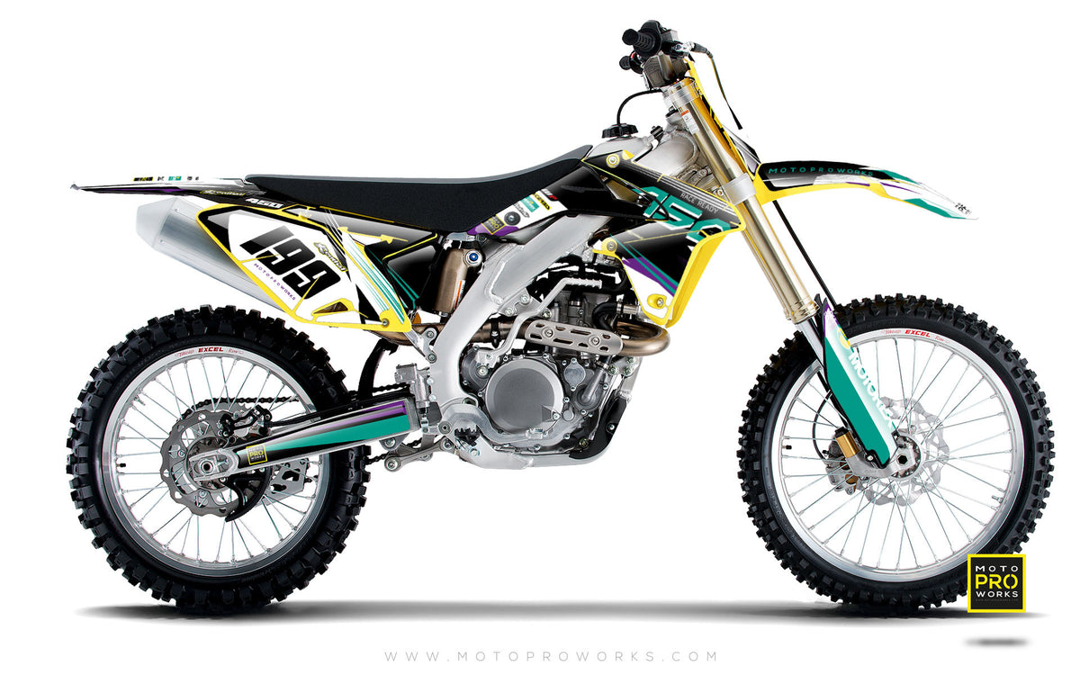 "Suzuki GRAPHIC KIT - ""GOFAST"" (salmiak) - MotoProWorks 