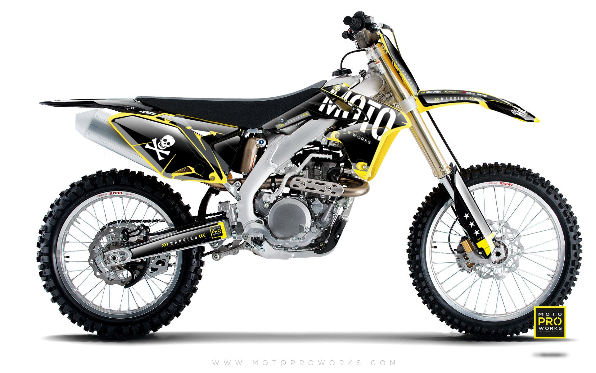 "Suzuki GRAPHIC KIT - ""GTECH"" (black) - MotoProWorks 