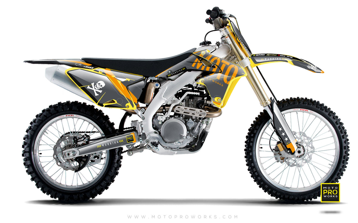 "Suzuki GRAPHIC KIT - ""GTECH"" (grey) - MotoProWorks 