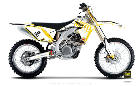 "Suzuki GRAPHIC KIT - ""GTECH"" (white) - MotoProWorks 