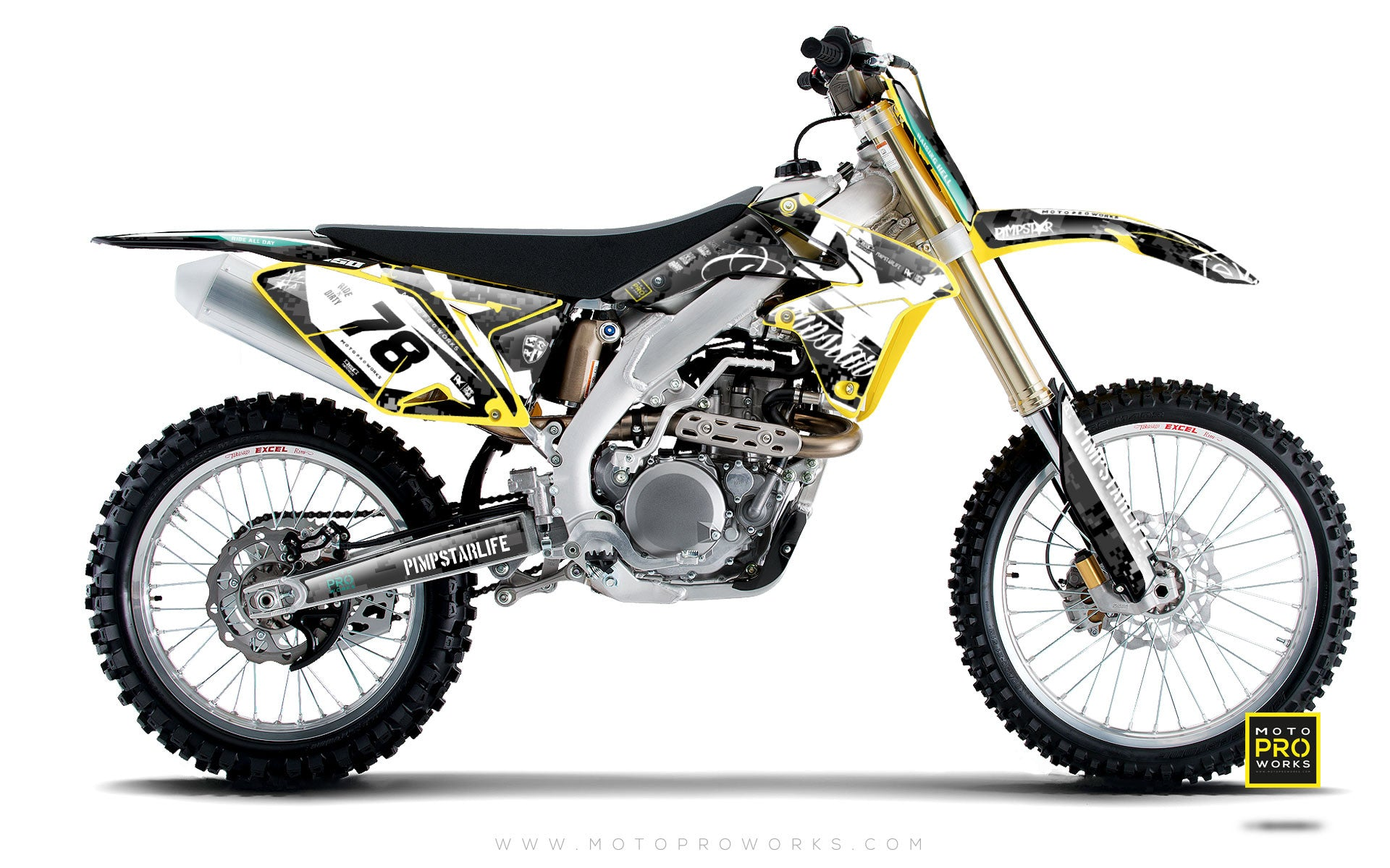 "Suzuki GRAPHIC KIT - ""MARPAT"" (dark) - MotoProWorks 