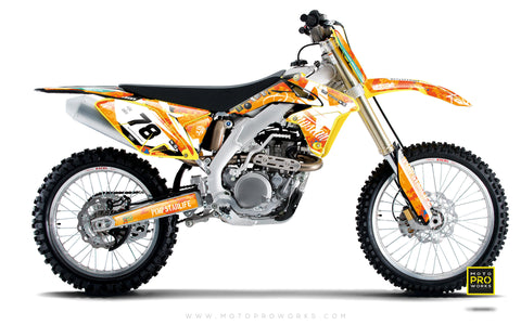 "Suzuki GRAPHIC KIT - ""MARPAT"" (orange) - MotoProWorks 