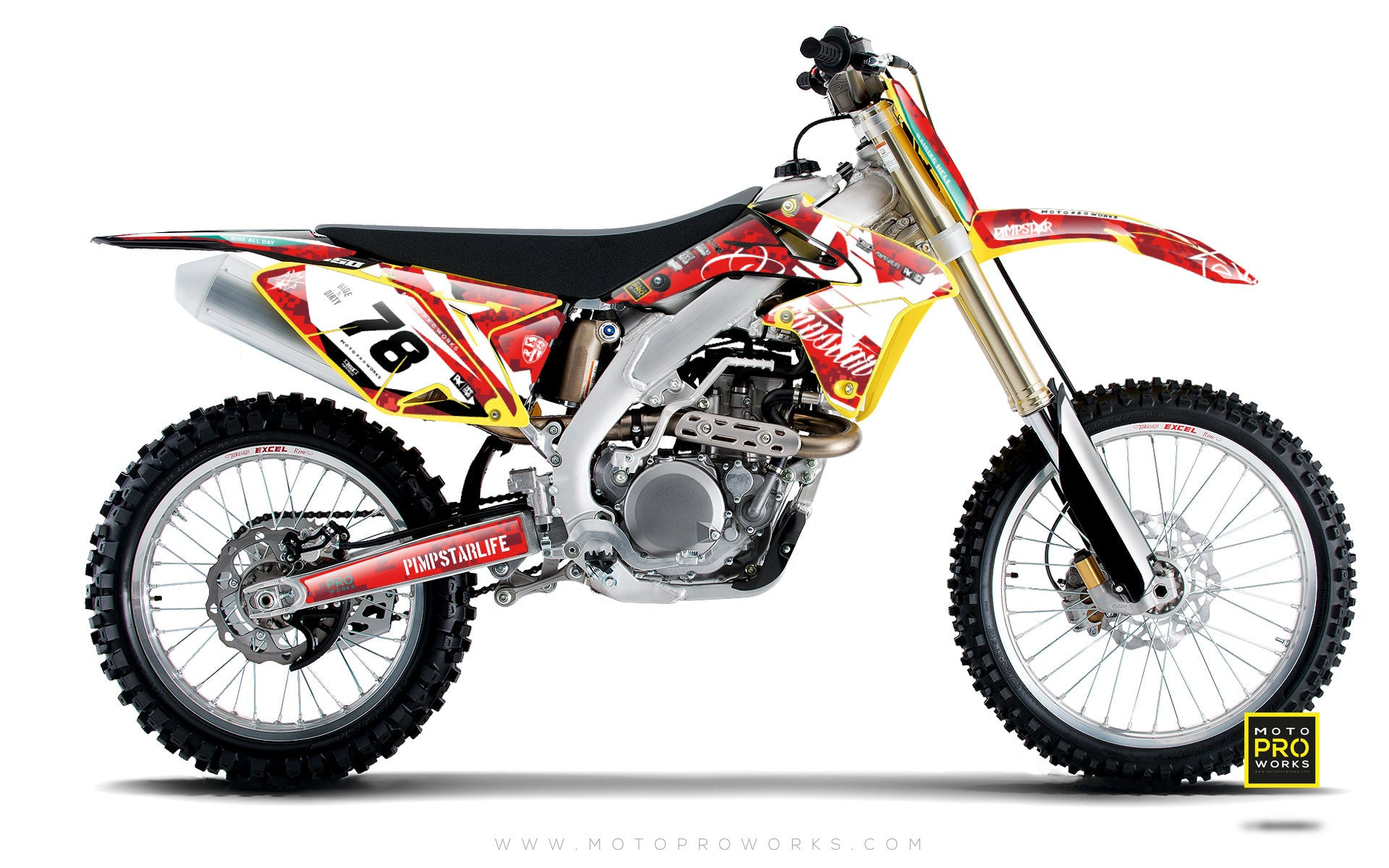 "Suzuki GRAPHIC KIT - ""MARPAT"" (red) - MotoProWorks 