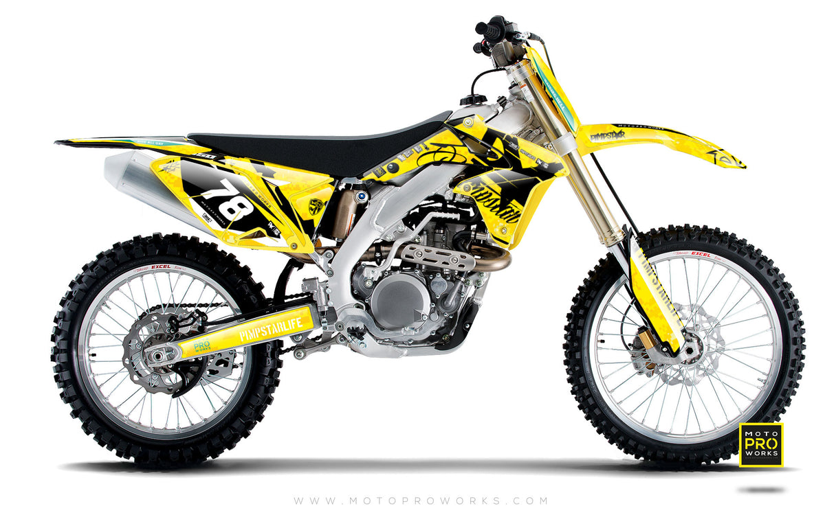 "Suzuki GRAPHIC KIT - ""MARPAT"" (yellow) - MotoProWorks 