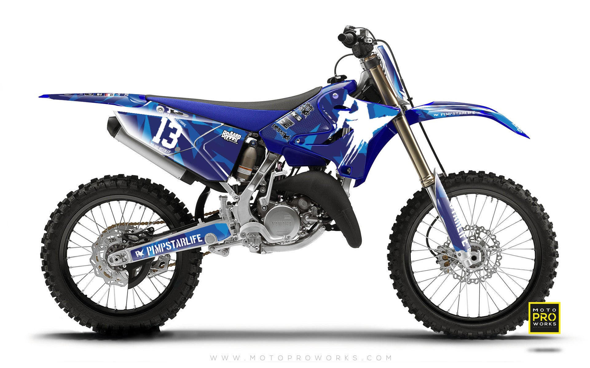 "Yamaha GRAPHIC KIT - ""M90"" (blue) - MotoProWorks 