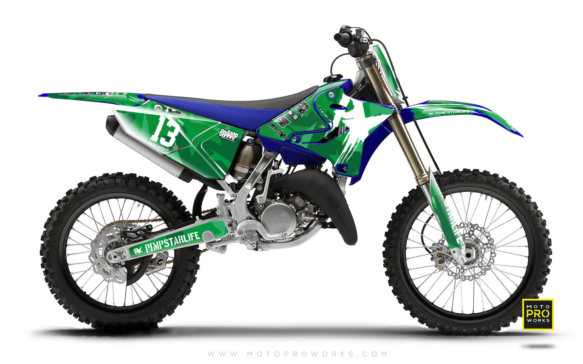 "Yamaha GRAPHIC KIT - ""M90"" (GREEN) - MotoProWorks 