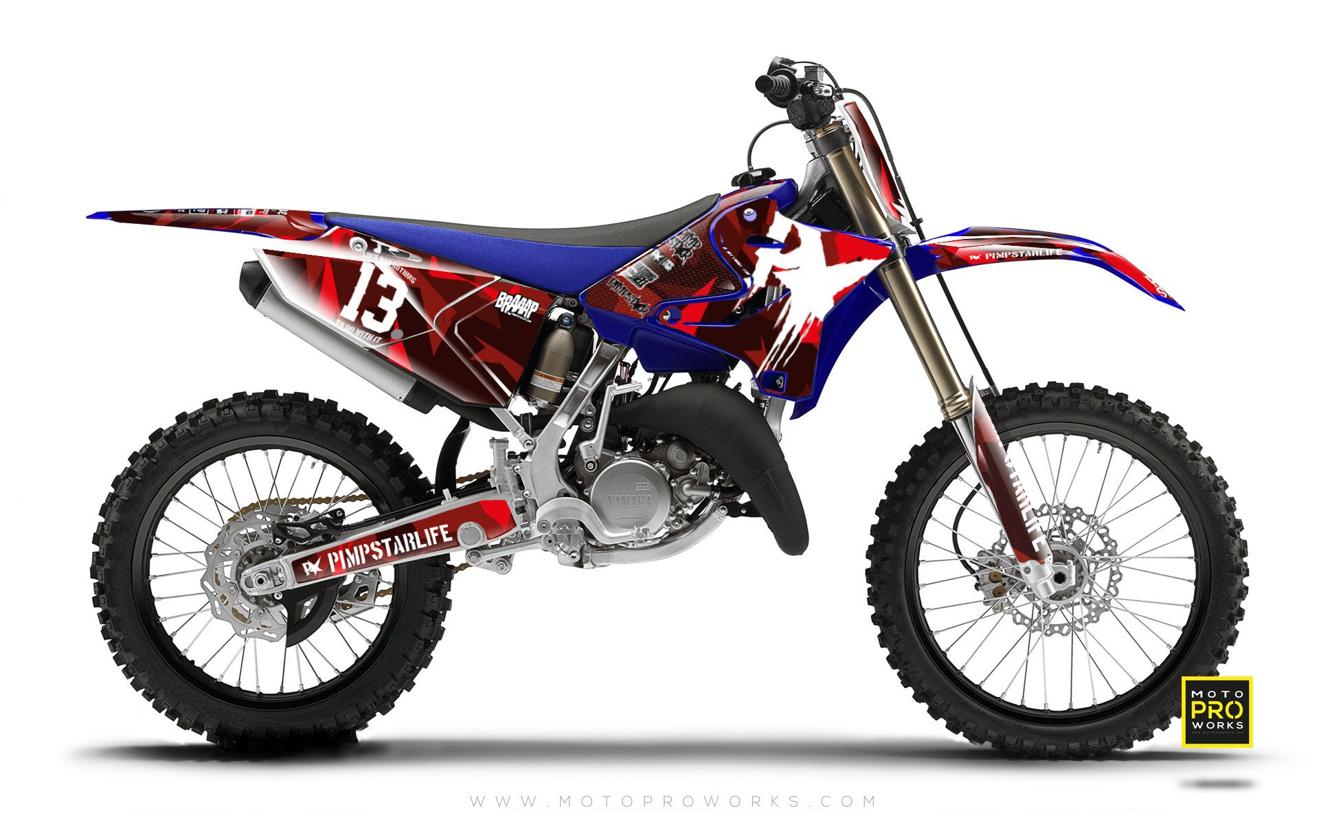 "Yamaha GRAPHIC KIT - ""M90"" (red) - MotoProWorks 