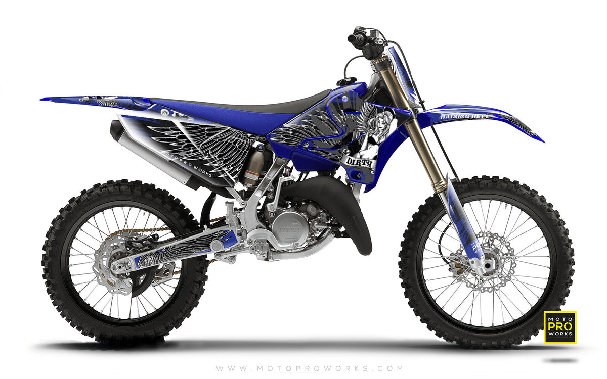 "Yamaha GRAPHIC KIT - ""Dirty Angel"" (blue) - MotoProWorks 