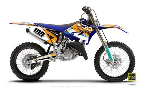 "Yamaha GRAPHIC KIT - ""GOFAST"" (orange) - MotoProWorks 