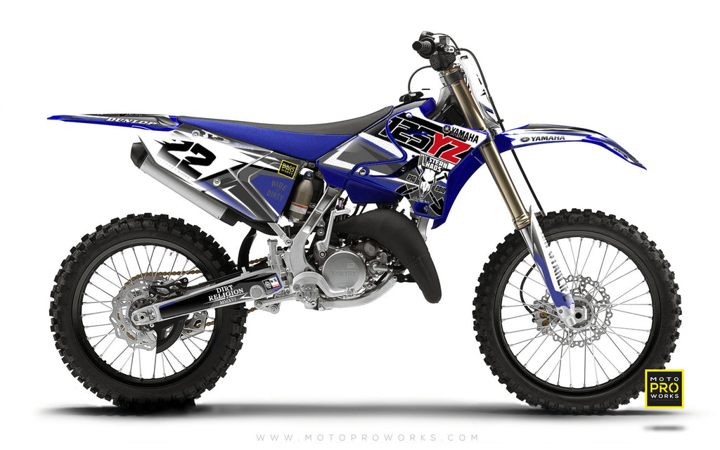 "Yamaha GRAPHIC KIT - ""HELLBERG"" (blue) - MotoProWorks 