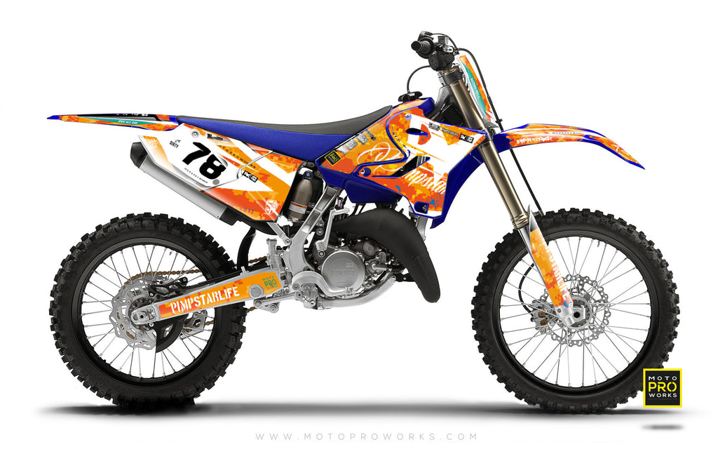 "Yamaha GRAPHIC KIT - ""MARPAT"" (orange) - MotoProWorks 