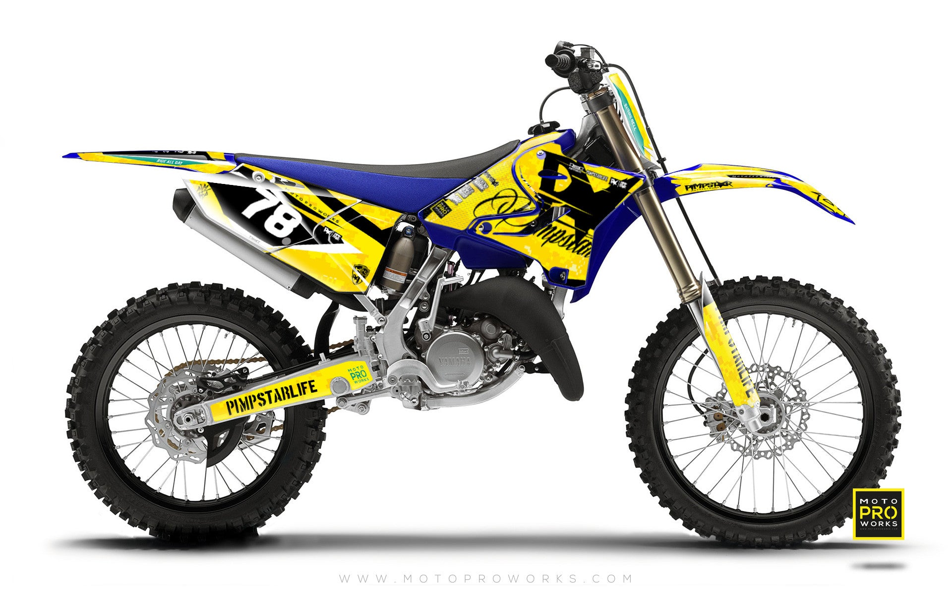 "Yamaha GRAPHIC KIT - ""MARPAT"" (yellow) - MotoProWorks 