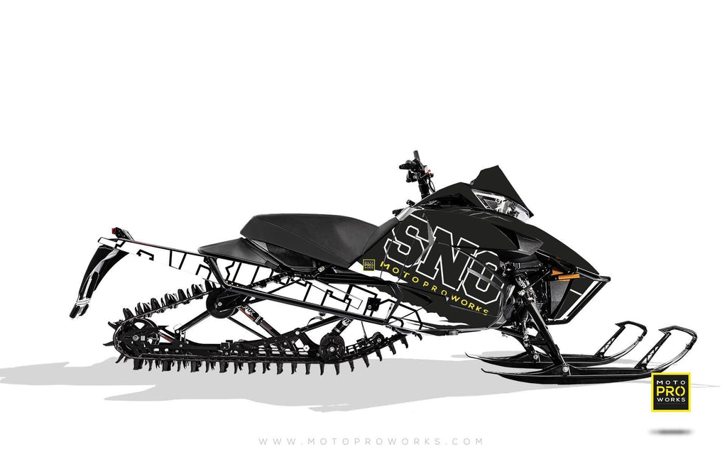 "Arctic Cat Graphics - ""Scratchy"" (b/w) - MotoProWorks 