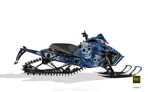"Arctic Cat Graphics - ""Fiesta"" (blue solid) - MotoProWorks 