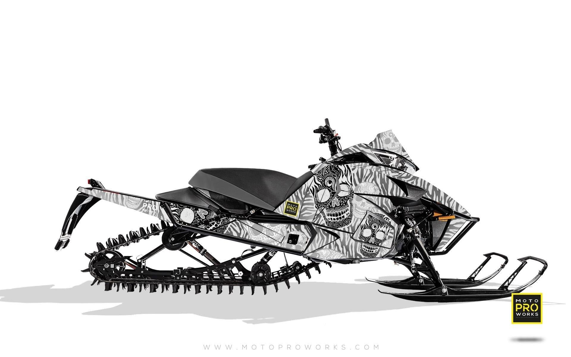 "Arctic Cat Graphics - ""Fiesta"" (white solid) - MotoProWorks 