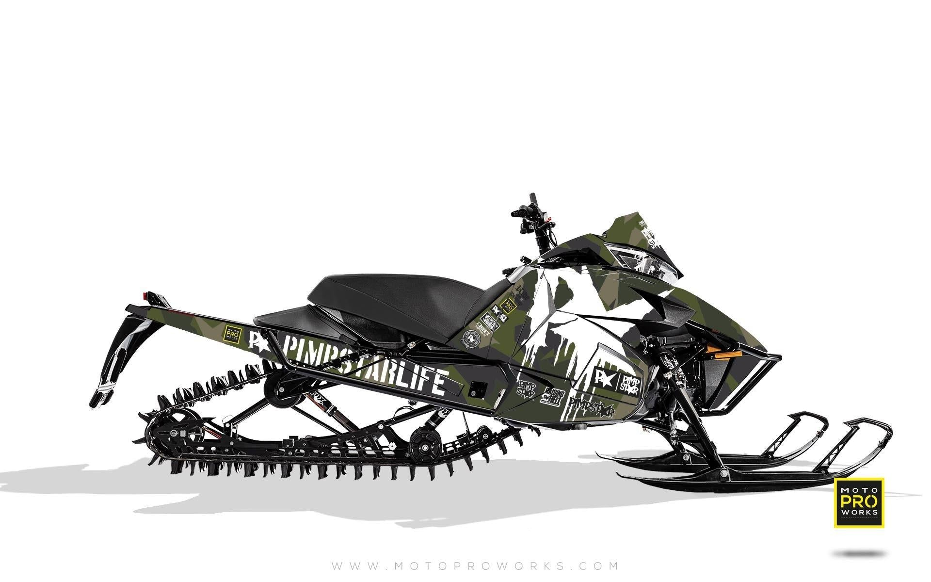 "Arctic Cat Graphics - ""M90"" (green) - MotoProWorks 