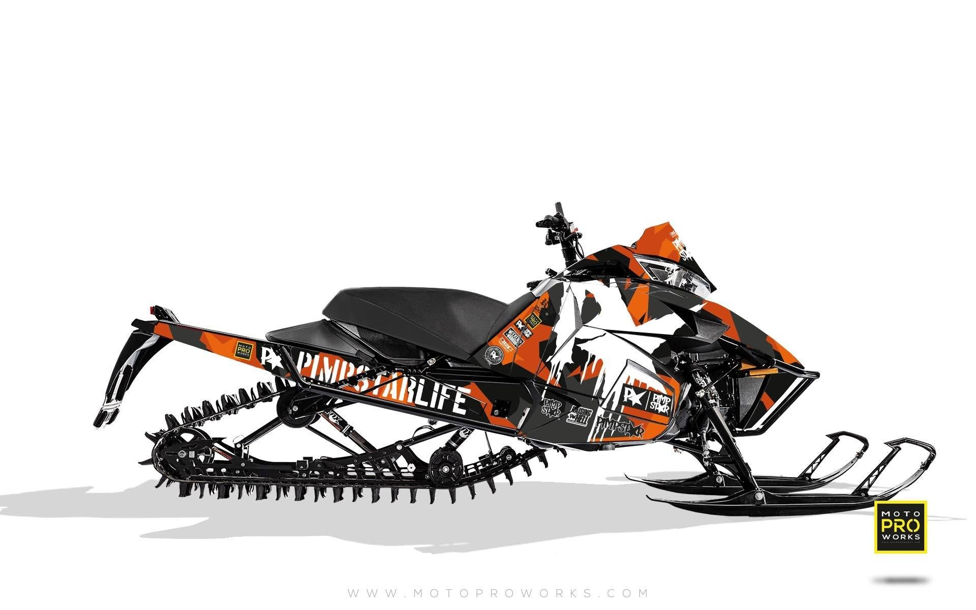 "Arctic Cat Graphics - ""M90"" (orange) - MotoProWorks 