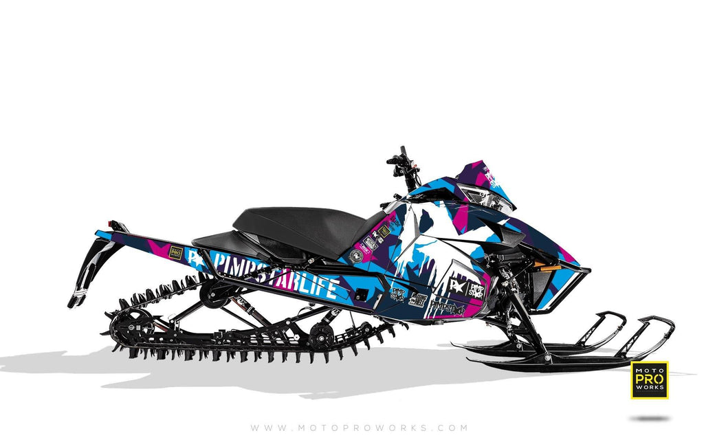 "Arctic Cat Graphics - ""M90"" (pink) - MotoProWorks 