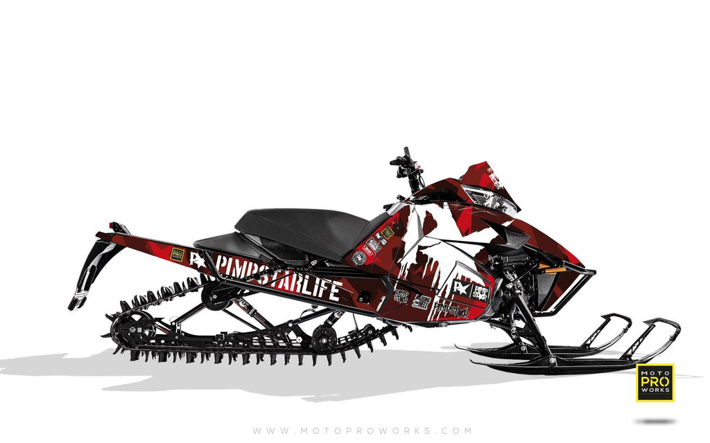 "Arctic Cat Graphics - ""M90"" (red) - MotoProWorks 