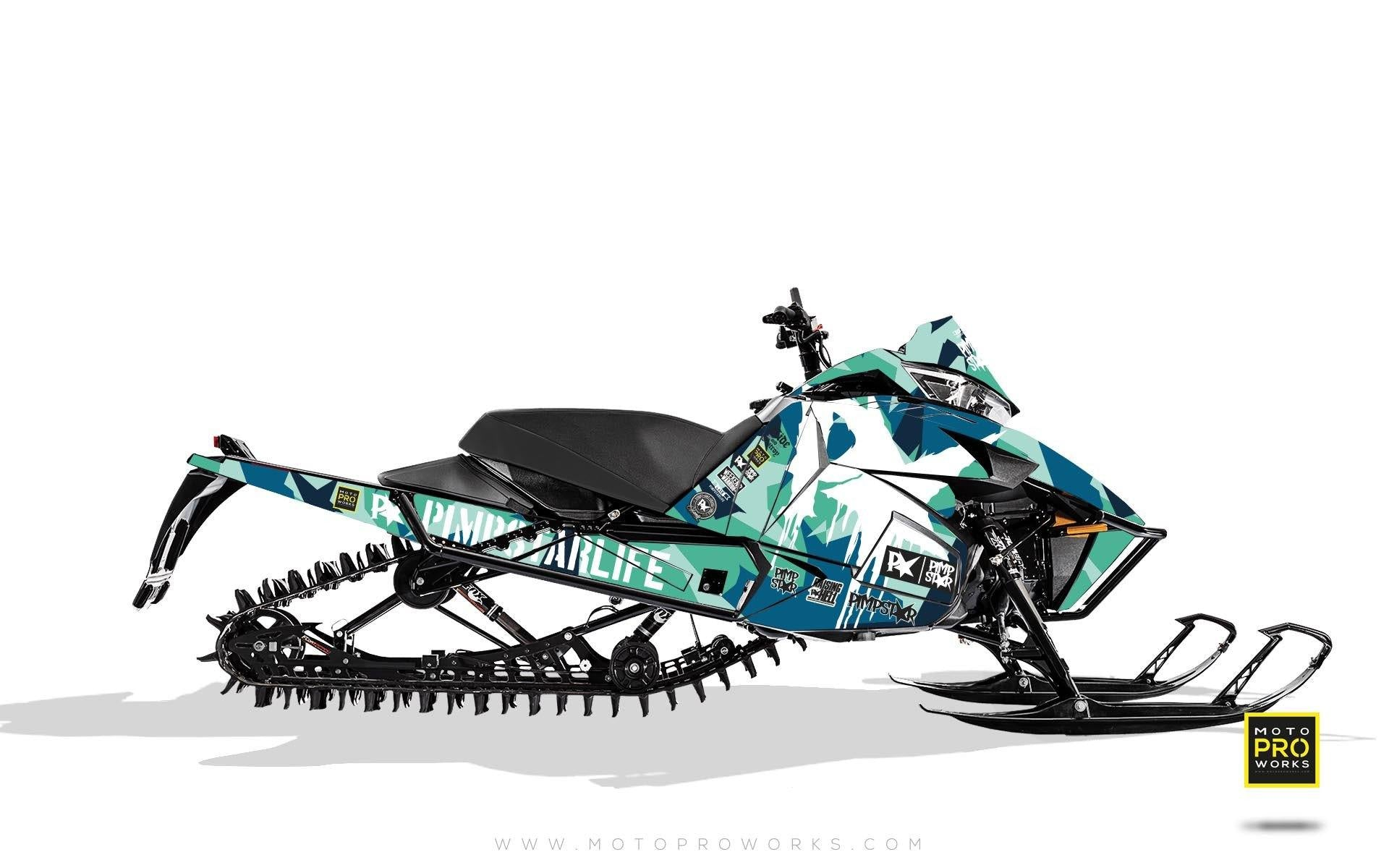 "Arctic Cat Graphics - ""M90"" (turquoise) - MotoProWorks 