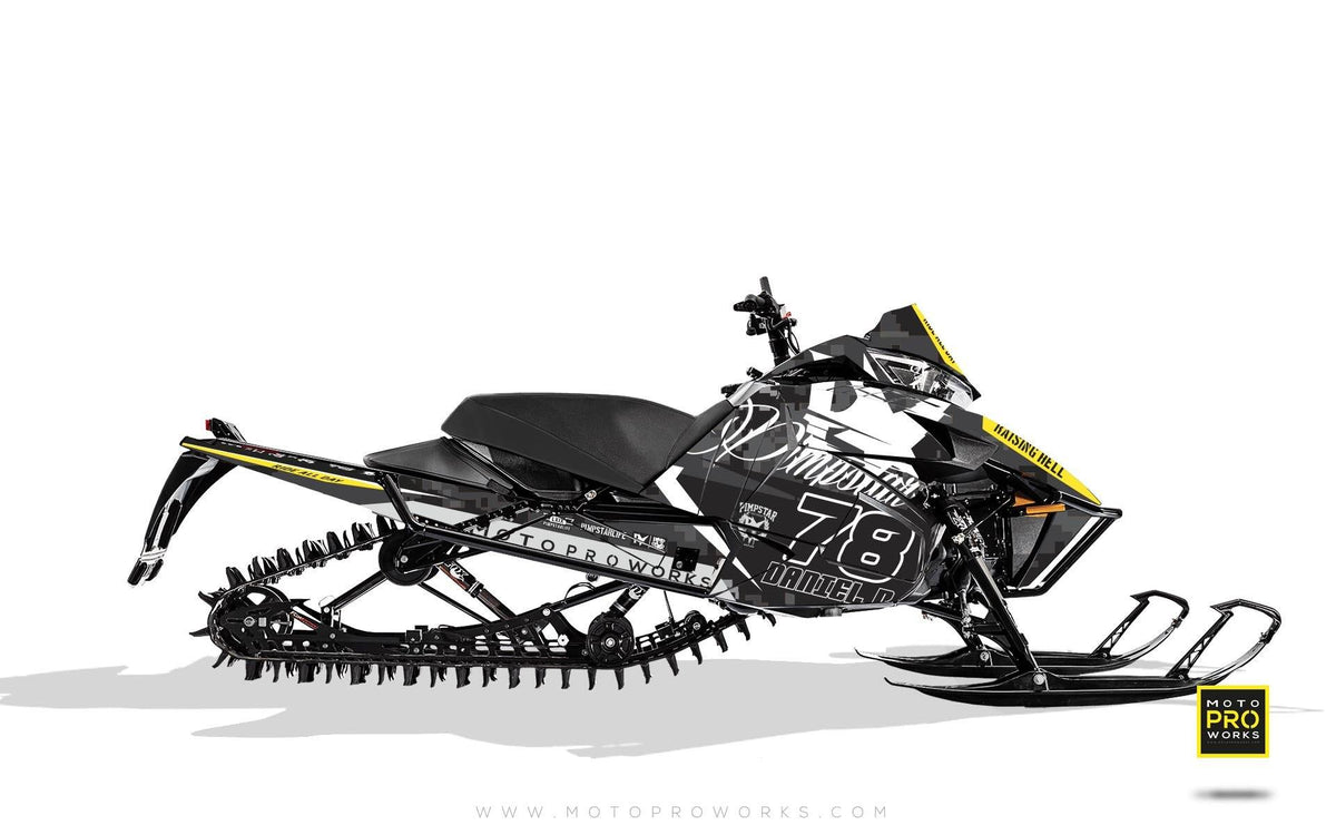 "Arctic Cat Graphics - ""Marpat"" (black) - MotoProWorks 